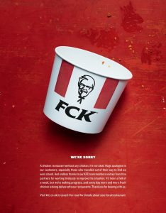 KFC – CLUCKING FANTASTIC CRISIS COMMS…